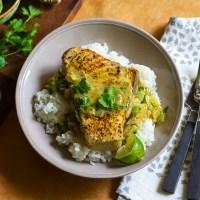 Seared Coconut-Vindaloo Swordfish