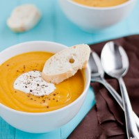 Curried Sweet Potato and Lentil Soup