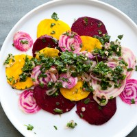 Beet Crudo with Chimichurri