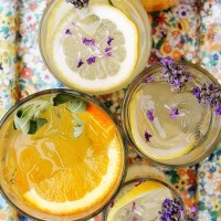 Orange and Sage and Lemon and Lavendar Vodka Tonic