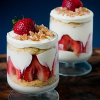 Ginger White Chocolate Strawberry Trifles
