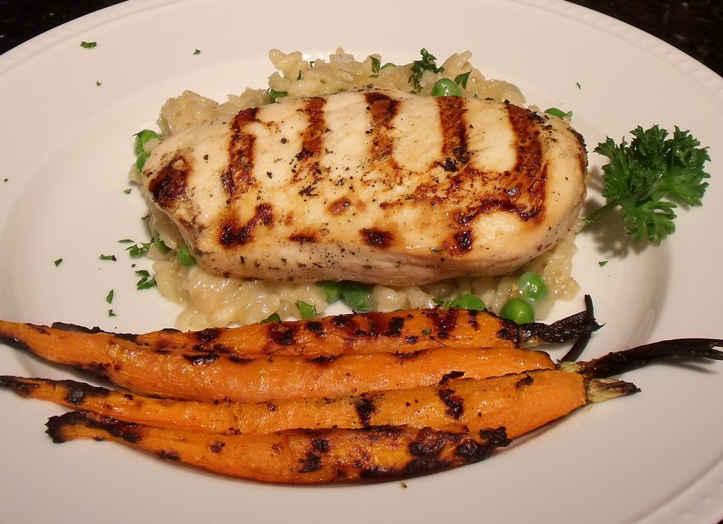 Grilled chicken and carrots