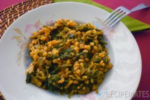 Spinach with Bulgur and Coriander Seeds