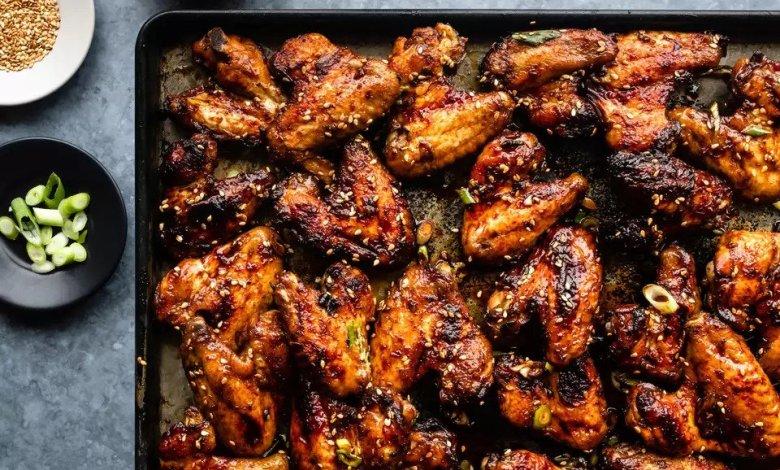 طريقة عمل أجنحة دجاج مشوية - وصفات أكل عربيه