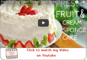 Sponge Cake with Fresh Fruit and Whipped Cream youtube video