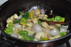 add onion and capsicum