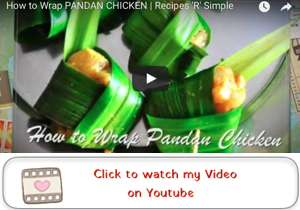 how to wrap pandan chicken youtube video