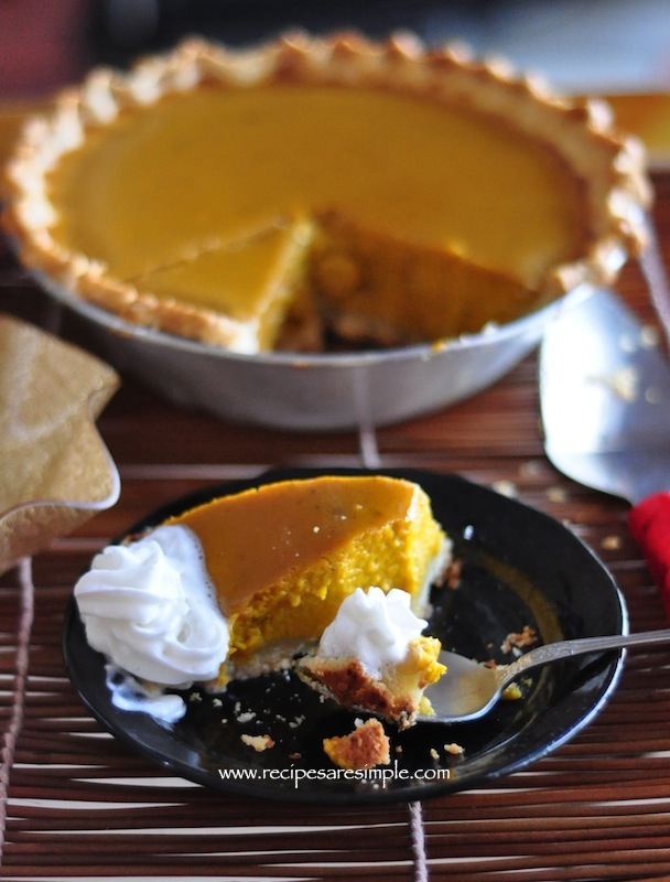 Pumpkin pie from scratch recipe