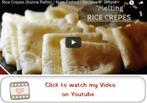kaima pathiri rice crepes youtube video