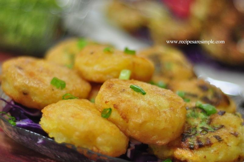 Indonesian Potatoes Meat Patti Begedil