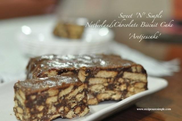 Chocolate Biscuit Cake - Arretjescake