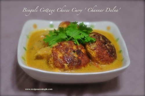 Cottage Cheese Ball and Potato Curry- 'Channar'Dalna'