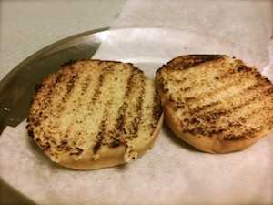 Home made chicken burger - grill buns
