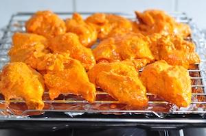 line oiled rack for tandoori chicken recipe