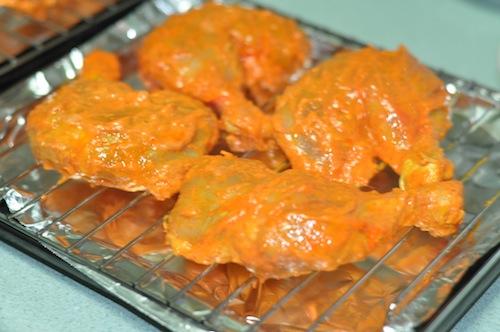 tandoori chicken recipe marinated