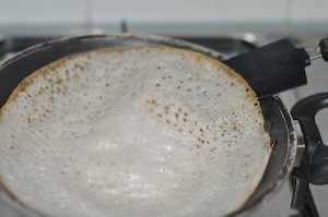 appam browned - Appam with Ground Rice (Traditional Method)