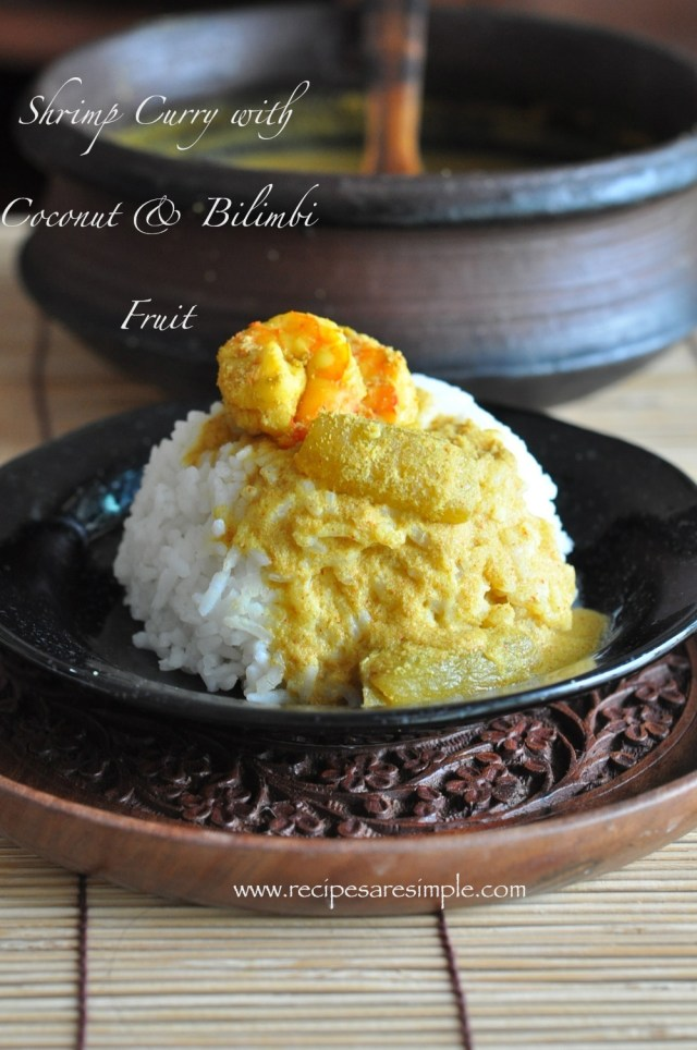 Shrimp Curry with Coconut and Bilimbi Fruit