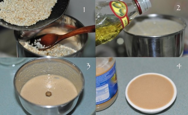 steps to make tahini sesame paste