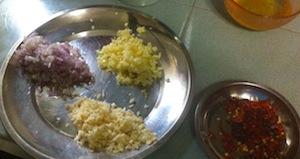 Tom Yum Fried Rice Ingredients.2