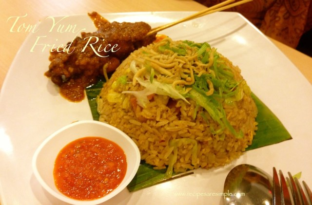 Tom Yum Fried Rice Seafood