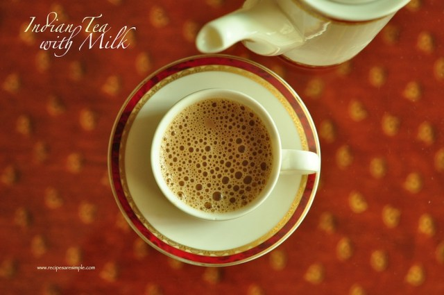 indian tea with milk