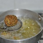 falafel - deep fry.