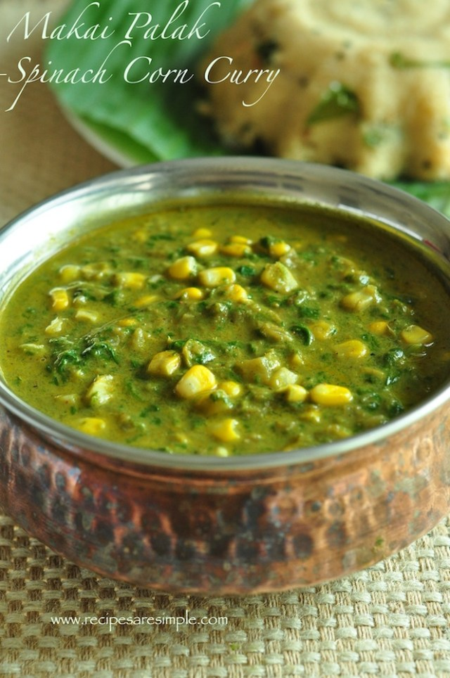 Makai Palak - Curried Corn with Spinach