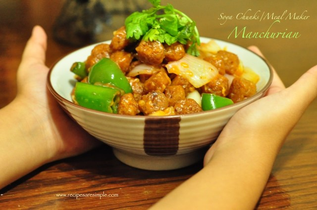 soya chunk manchurian recipe