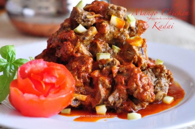 mango chicken kadai