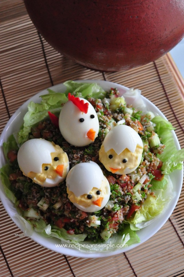 devilled eggs easter egg chicks IDEA