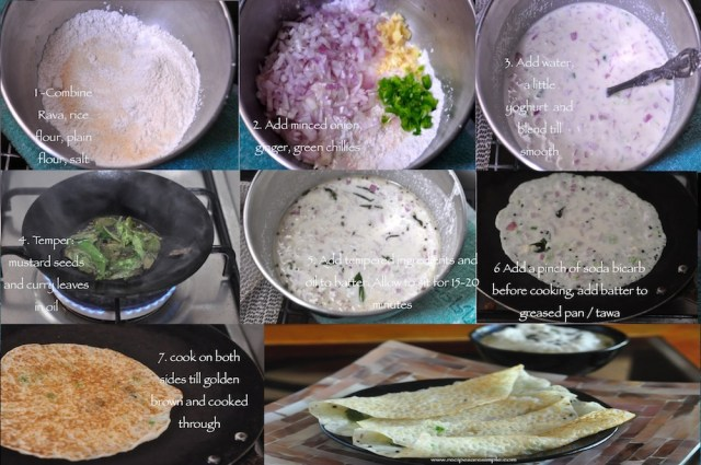 steps to make onion rava dosa
