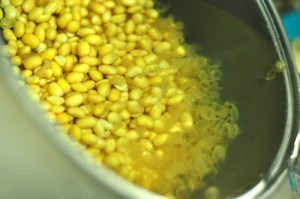 soy milk recipe - remove skins
