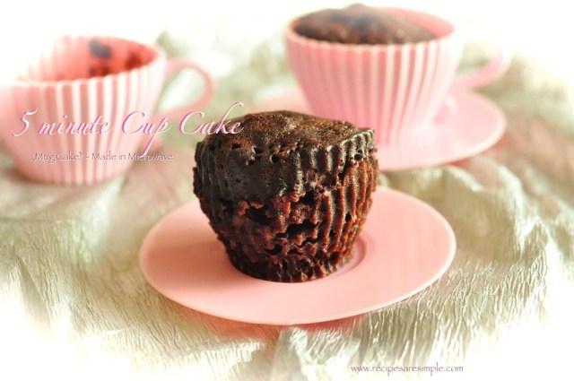 5 minute mug cake : cup cake