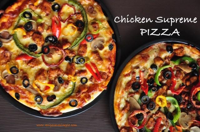 CHICKEN SUPREME PIZZA RECIPE