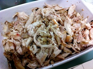Musakhan - Sumac Chicken - saute onion for stock