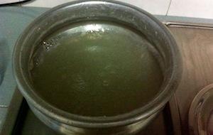 Mutta mala and pinjanathappam - lower heat and add water