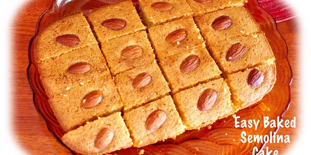 baked semolina cake