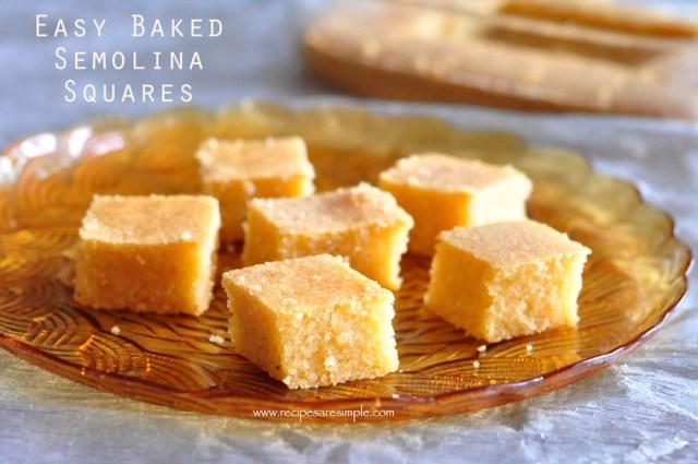 BAKED SEMOLINA CAKE RECIPES