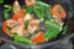 sambar recipe - Kerala varutharacha sambar tomato