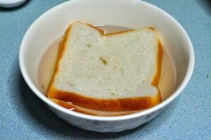 aloo tikki burger - soak bread