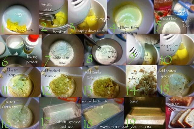 steps to make Banana Cake - Banana Loaf Cake with Walnuts