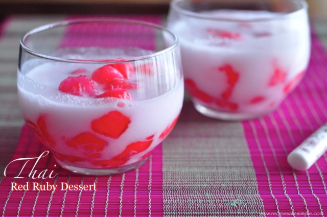 thai red ruby dessert