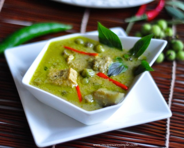 thai green curry chicken with video