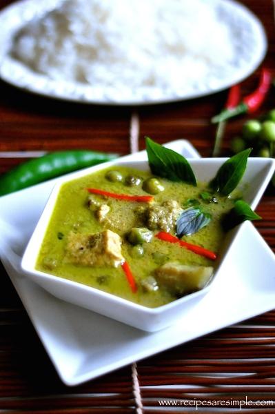 thai green curry chicken1