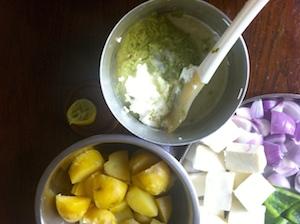 marinade for Paneer and Potato Tikka Skewers