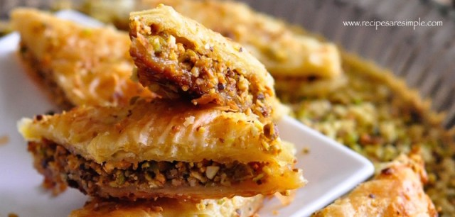 baklava with pistachio and cashew nuts video