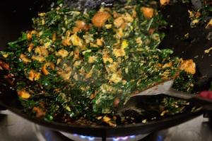 kale fried rice scramble eggs