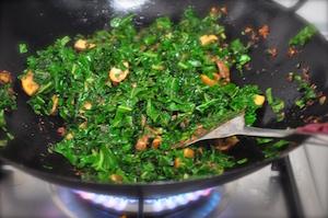 kale fried rice stir fry