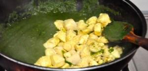 Palak Chicken 17 add chicken