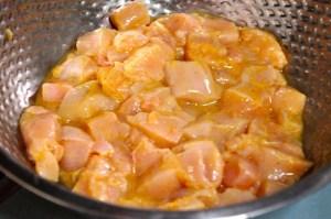 Palak Chicken 7 marinated chicken
